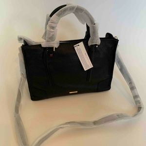 Rebecca Minkoff Regan Satchel Tote Bag Black